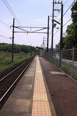 水口松尾駅ホーム貴生川方面