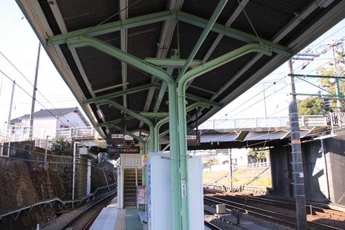 入江岡駅ホーム庇