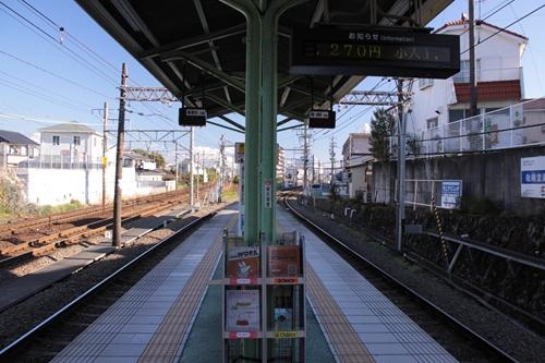 入江岡駅ホーム新清水方面