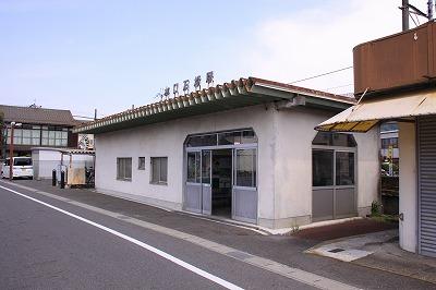 水口石橋駅駅舎