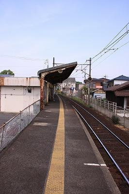 水口石橋駅ホーム八日市方面
