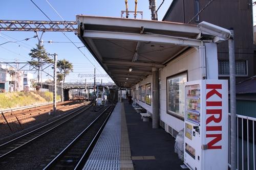 桜橋駅2番線ホーム新清水方面