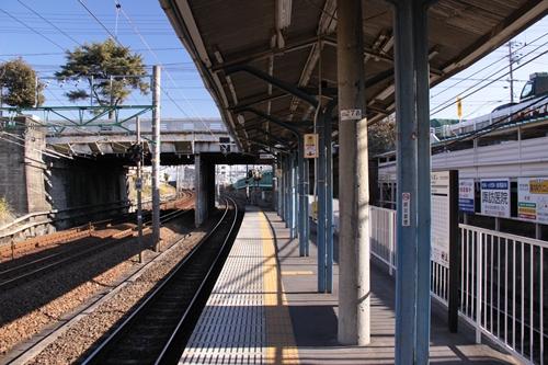 桜橋駅1番線ホーム新清水方面