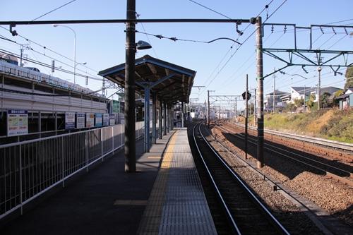 桜橋駅1番線ホーム新静岡方面