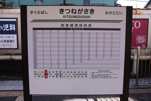 狐ヶ崎駅駅名表示札