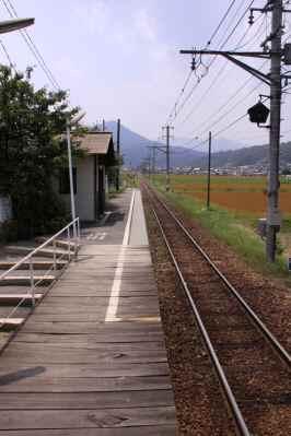 舞田駅ホーム
