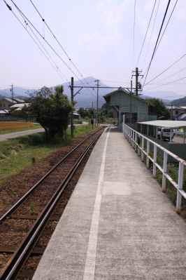 八木沢駅ホーム奥