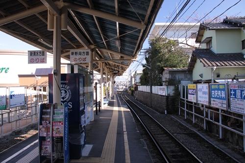 御門台駅ホーム新清水方面