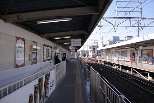 草薙駅2番線ホーム新静岡方面