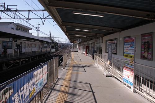 草薙駅1番線ホーム新静岡方面