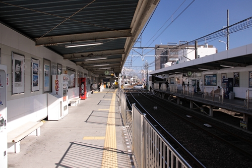 草薙駅1番線ホーム新清水方面