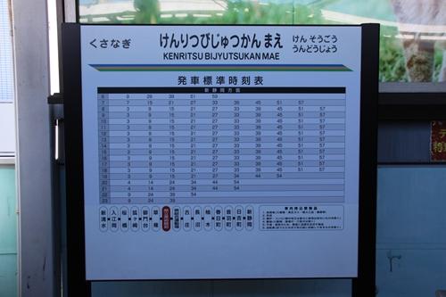 県立美術館前駅2番線ホーム駅名表示札