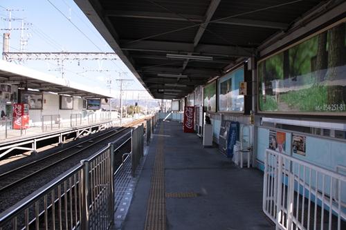 県立美術館前駅2番線ホーム新清水方面