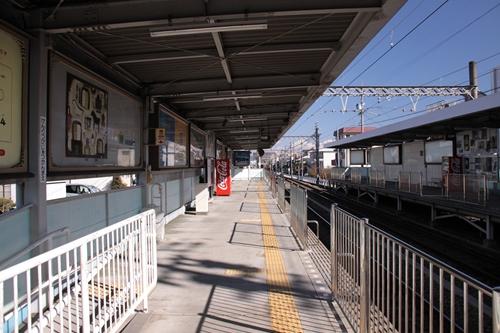 県立美術館前駅1番線ホーム新清水方面