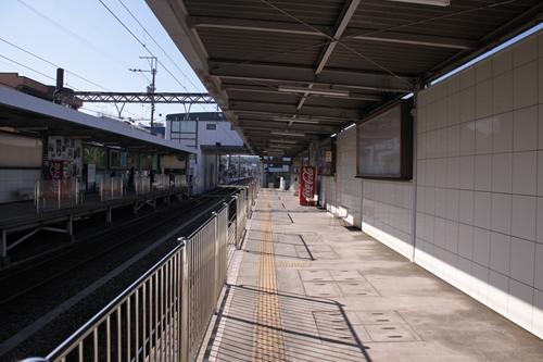 県立美術館前駅1番線ホーム新静岡方面
