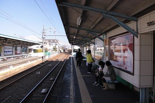 古庄駅2番線ホーム新清水方面