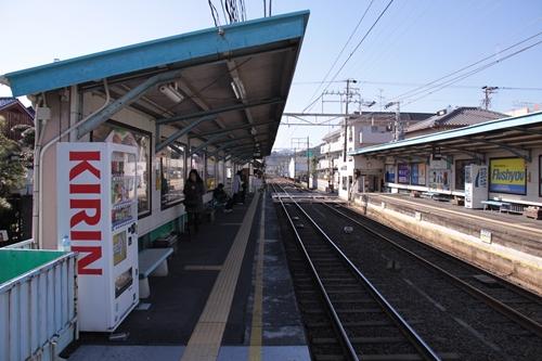 古庄駅2番線ホーム新静岡方面