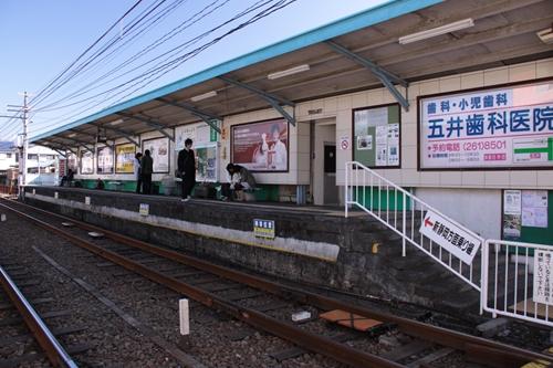 古庄駅2番線ホーム全景