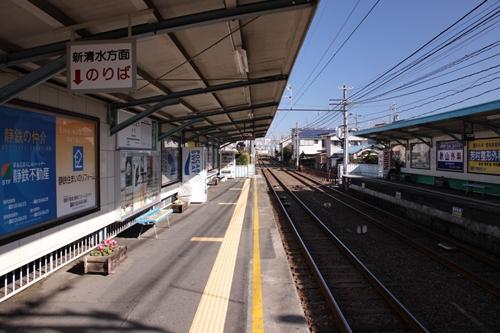 古庄駅1番線ホーム新清水方面