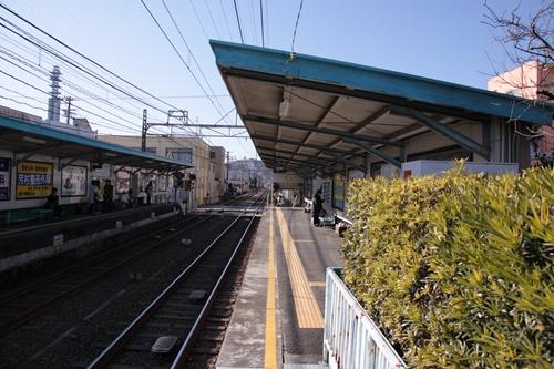 古庄駅1番線ホーム新静岡方面