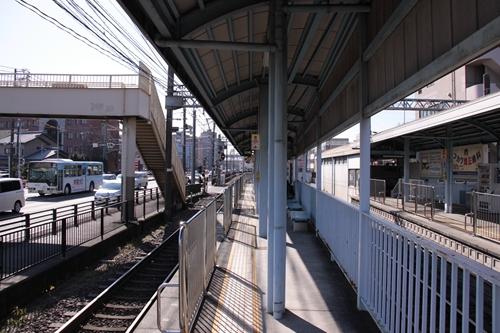 柚木駅2番線ホーム新静岡方面