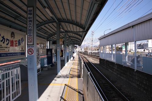 静岡鉄道静岡清水線柚木駅1番線ホーム新清水方面