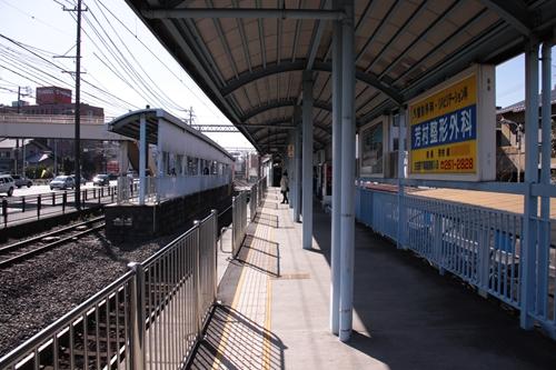 静岡鉄道静岡清水線柚木駅1番線ホーム新静岡方面