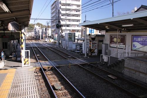 日吉町駅構内踏切