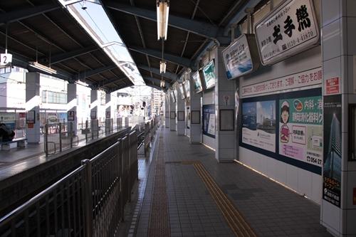 新静岡駅3番線ホーム新清水方面