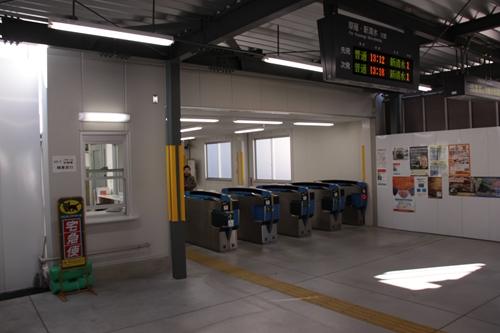 新静岡駅ホーム側改札口