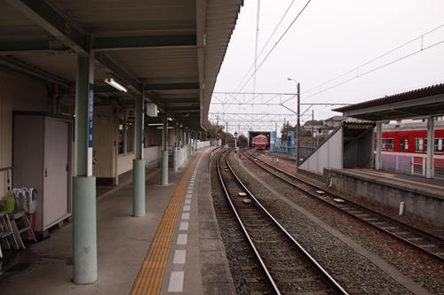 西鹿島駅1番線ホーム新浜松方面