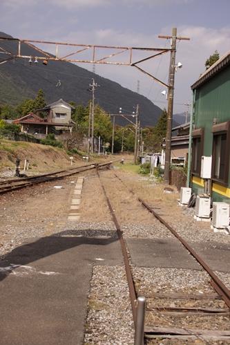 西藤原駅線路終端