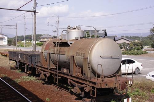 丹生川駅貨車