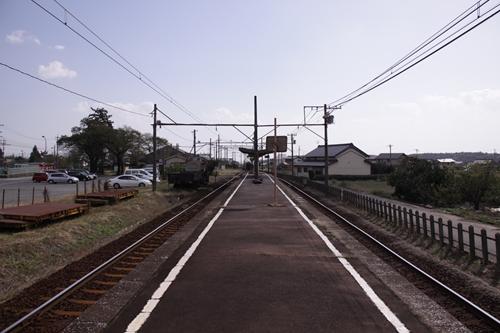 丹生川駅ホーム近鉄富田方面
