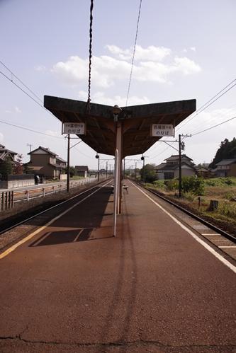 梅戸井駅ホーム近鉄富田方面