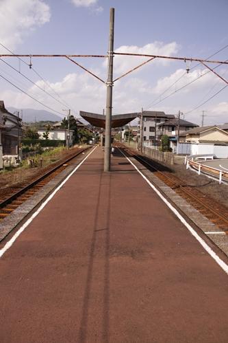 梅戸井駅ホーム西藤原方面