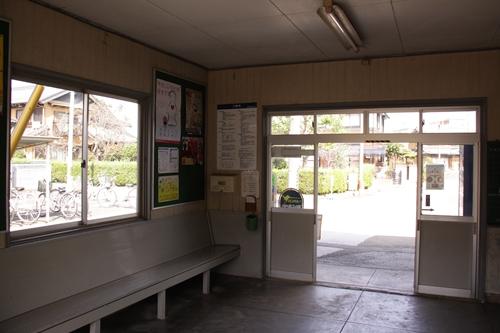 梅戸井駅待合室