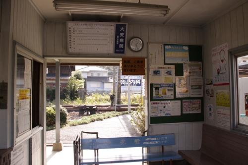 大矢知駅駅舎内