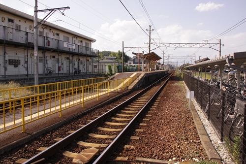 大矢知駅ホーム全景