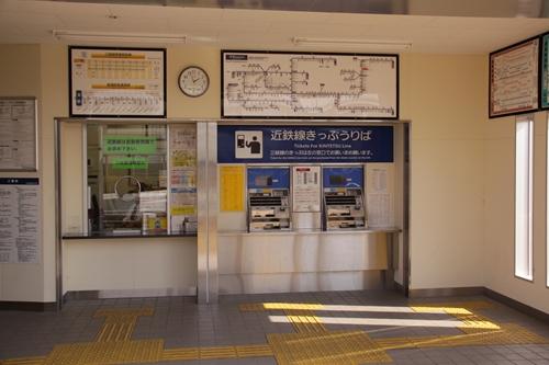 近鉄富田駅西口改札口