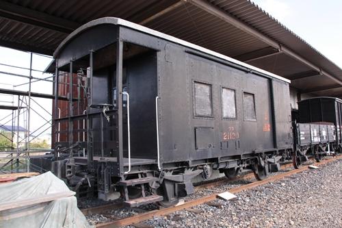 貨物鉄道博物館ワフ21000形21120号背面