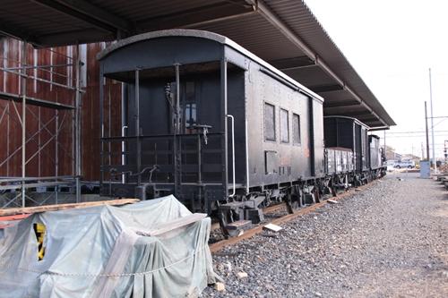 貨物鉄道博物館ブロック1留置車両全景その2