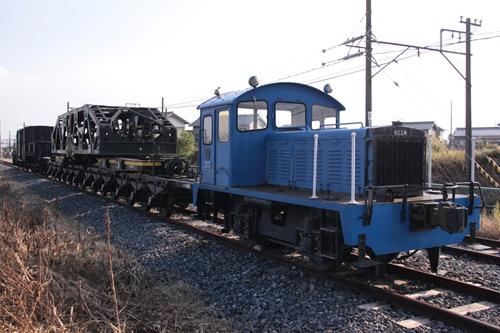 貨物鉄道博物館第二ブロック展示車両全景後ろ