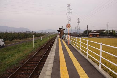 樽見鉄道モレラ岐阜駅ホーム根尾方面