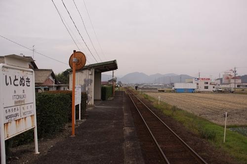 樽見鉄道糸貫駅ホーム根尾方面