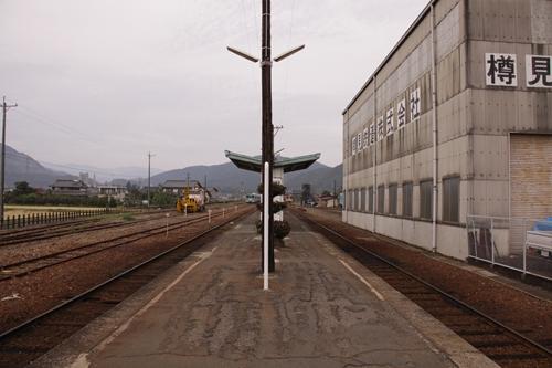 樽見鉄道本巣駅ホーム根尾方面