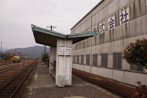 樽見鉄道本巣駅ホーム待合所