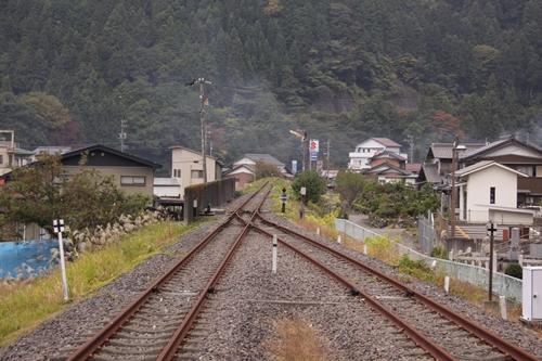 樽見鉄道樽見駅終着点