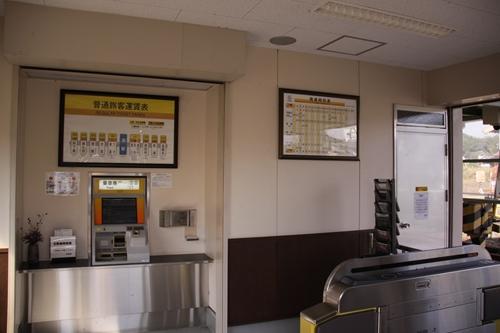 七和駅駅舎内