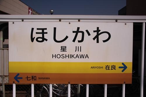 星川駅駅名表示札